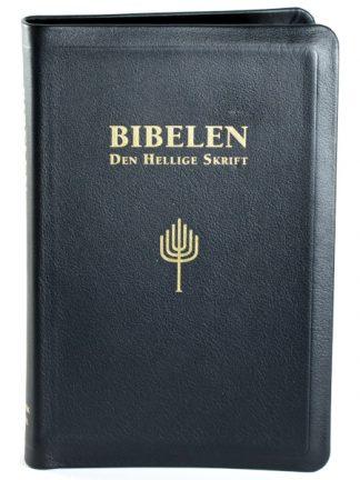 Norsk Bibel - storskrift - kalveskinn - sort