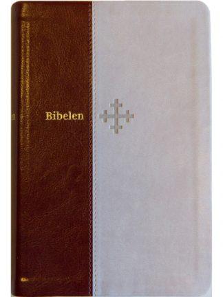 Bibel 2011 - mellomstor - beige/brunt kunstskinn