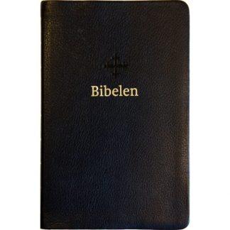 Bibel 2011 - mellomstor - sort skinn - register