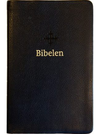 Bibel 2011 - mellomstor - sort skinn - register