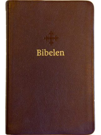 Bibel 2011 - mellomstor - mørk brunt skinn - register