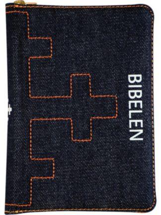 Bibel 2011 - lita utgåve i jeansstoff med glidelås