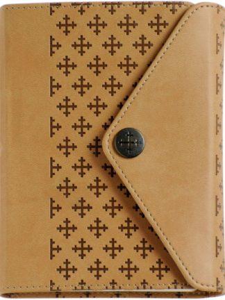 Bibel 2011 - liten utgave med beige korsmønster