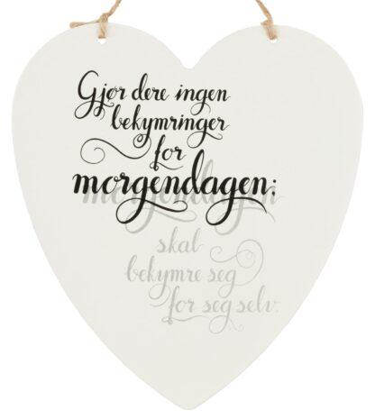 Metallskilt hjerte Morgendagen