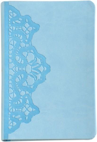 Bibel 2011 trendutgåve - lysblå med blondem