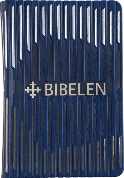 Bibel 2011 Trendutgåve i blått kunstskinn med sølv